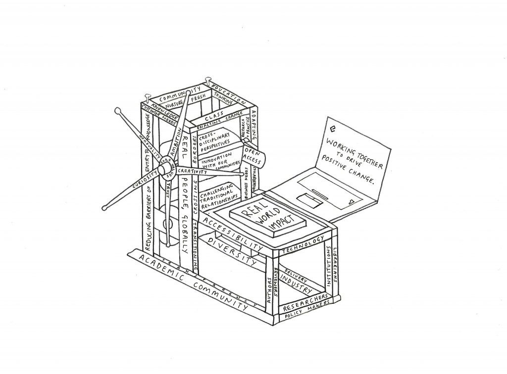 Illustration of a printing press